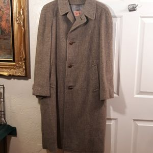 Vintage Lodenfrey Tweed Winter Overcoat